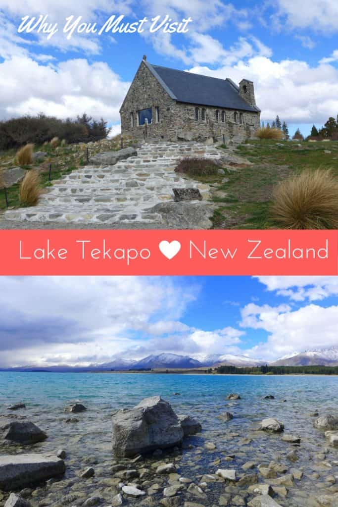 Lake Tekapo, New Zealand | Visiting Lake Tekapo is a must on any South Island New Zealand trip. Gorgeous milky turquoise water, the famous chapel, clear starry skies, nearby hiking and glacier lake tours--this area has so much to offer. Where we went, where we stayed in Lake Tekapo, NZ. #newzealand #laketekapo #southisland