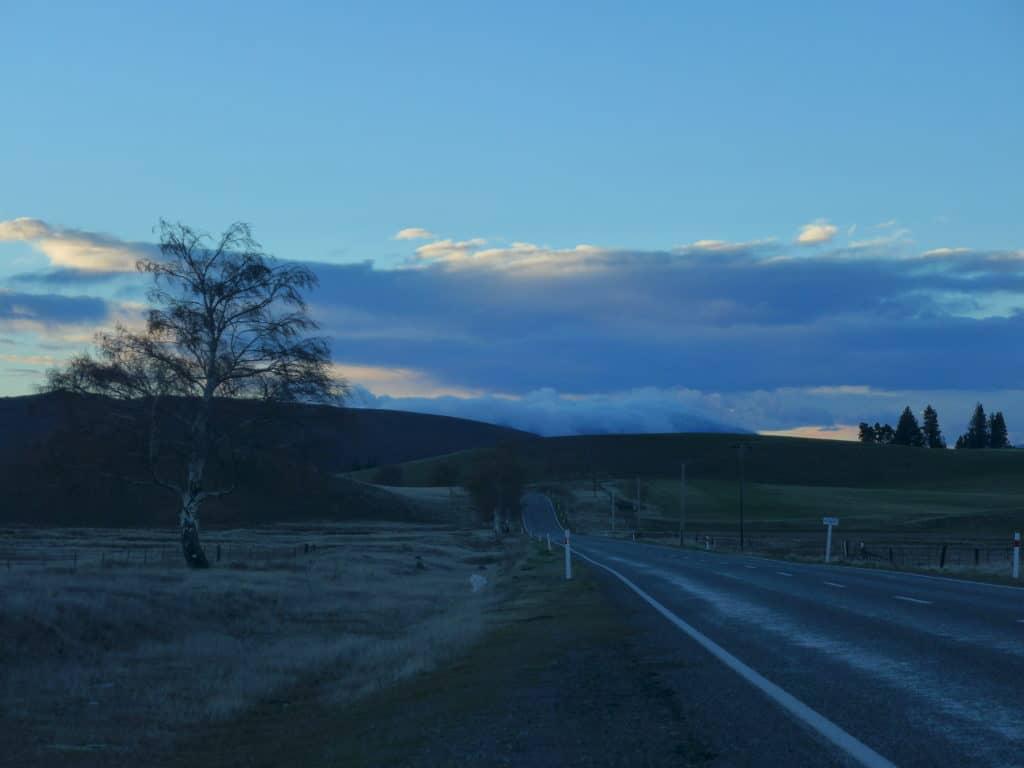Sunrise in New Zealand's South Island, near Lake Tekapo...all about our trip to the Lake Tekapo area