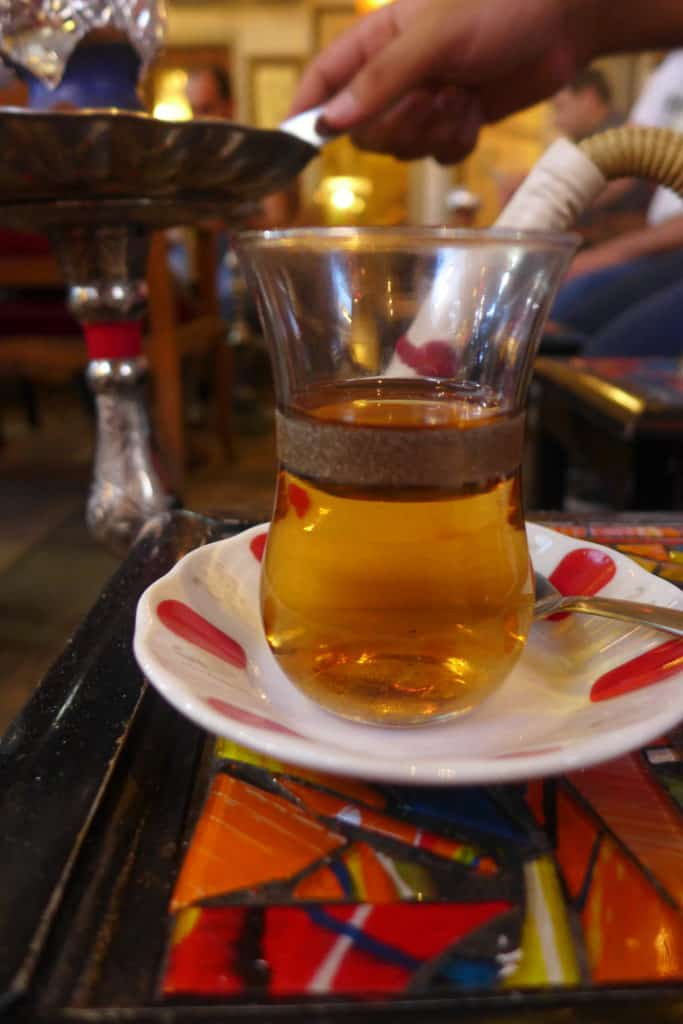 A cup of tea on an Istanbul food tour, dinner with a local family and shisha at a bar