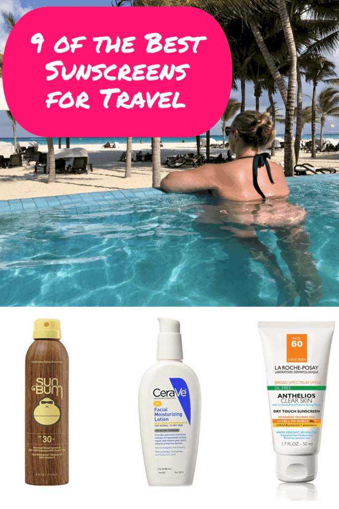 The 9 best sunscreens for every kind of travel! Face sunscreens, spray sunscreens, biodegradable and ocean-safe sunscreen, lip sunscreen | Best sunscreens for every kind of travel, that don't break the bank. #sunscreen #travel #bestsunscreen