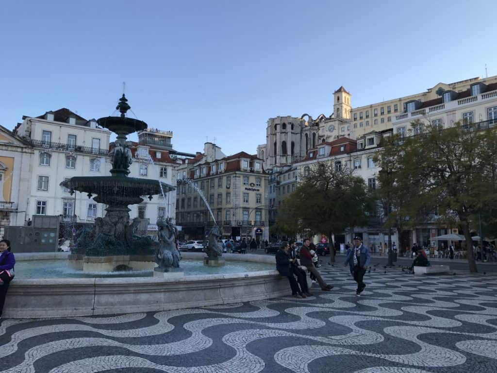 The view of Carmo Convent and Topo Chiado from below...looking up at Lisbon's best rooftop bar and patio