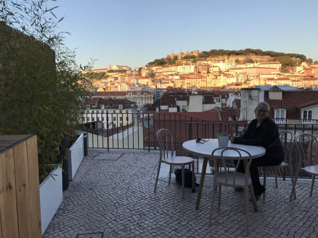 The best rooftop bar in Lisbon is attached to the medieval Carmo Convent...drinks with a stunning view, perfect at sunset. #portugal