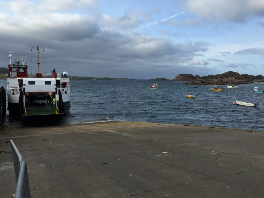 Taking the ferry from Mull to the Isle of Iona