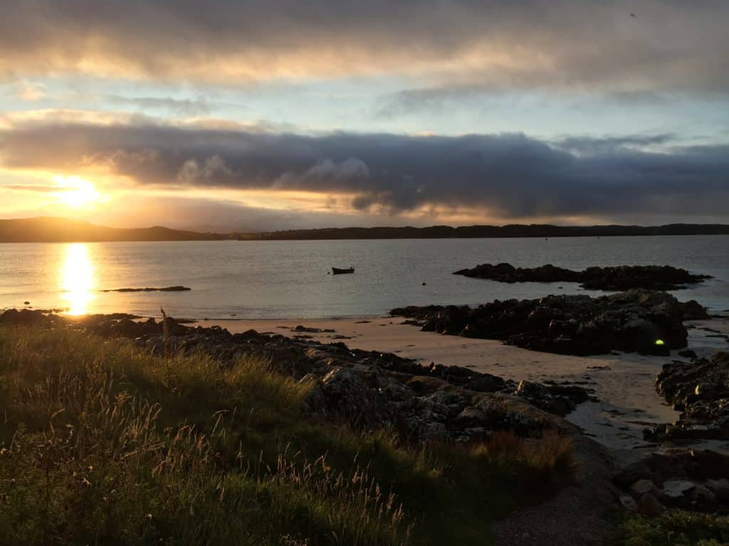 Sunrise on the beautiful Isle of Iona