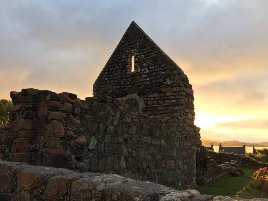 Sunrise over Iona Abbey, with so much history - what to see on the Isle of Iona