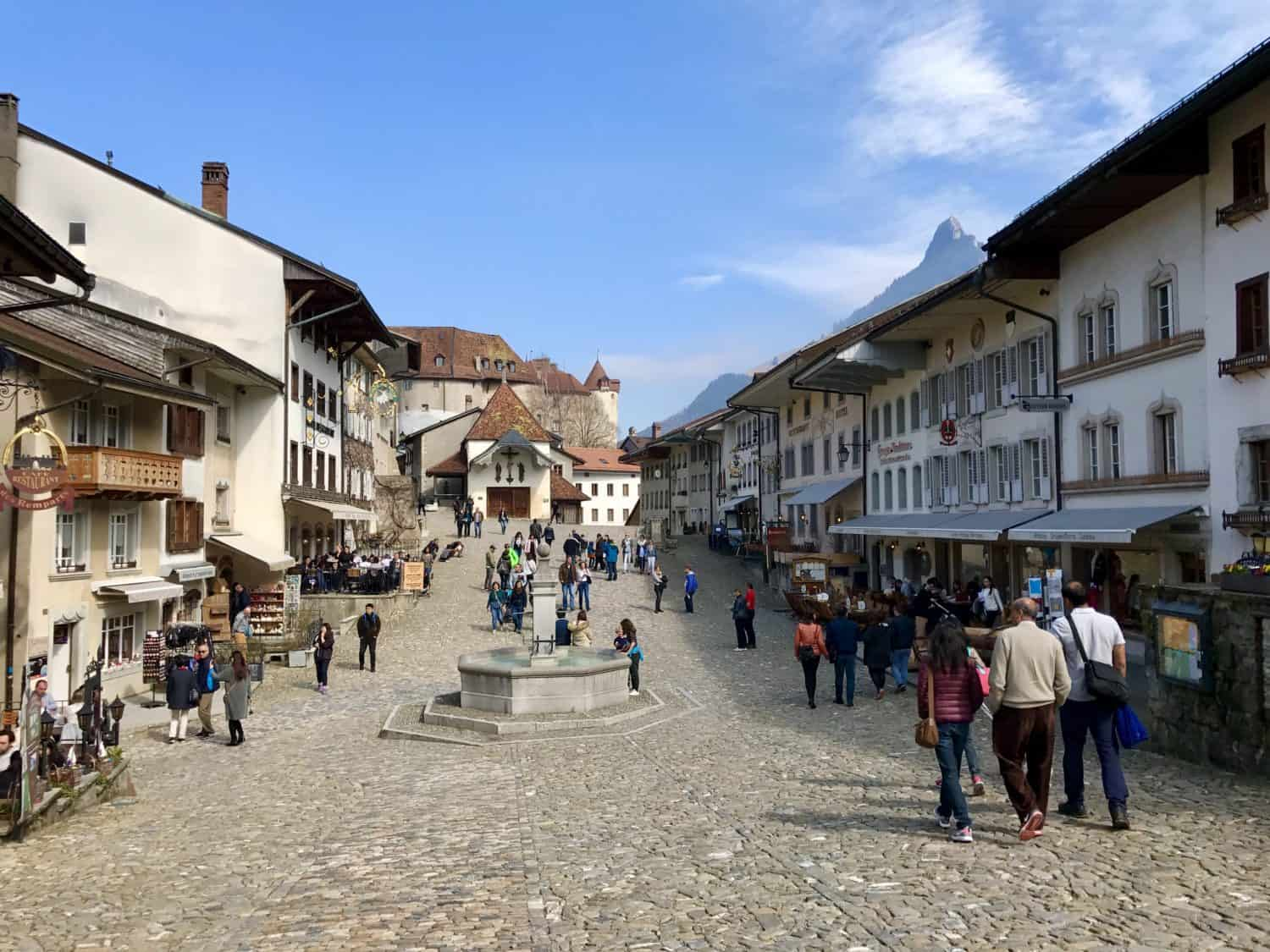 Eat some fondue in medieval Gruyeres - day trips from Geneva