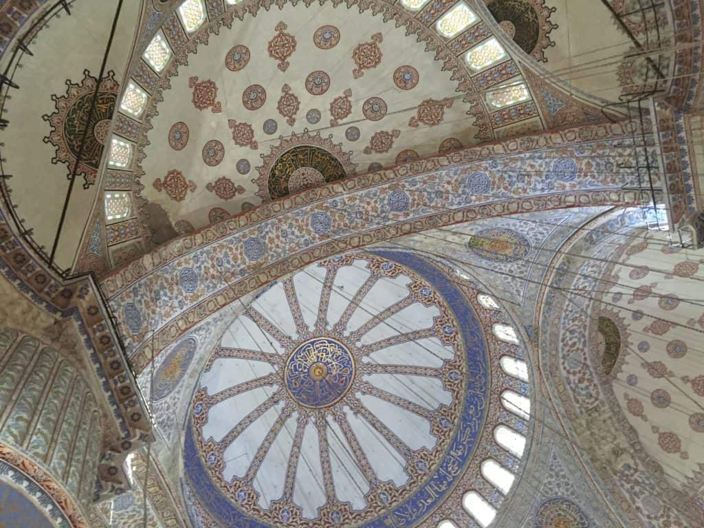 The famous Blue Mosque...tips for how to see everything major with 24 hours in Istanbul   itinerary ideas for what to do in Istanbul   what to see & what to skip   Istanbul trip planning, itinerary ideas for Istanbul   Turkey itinerary advice