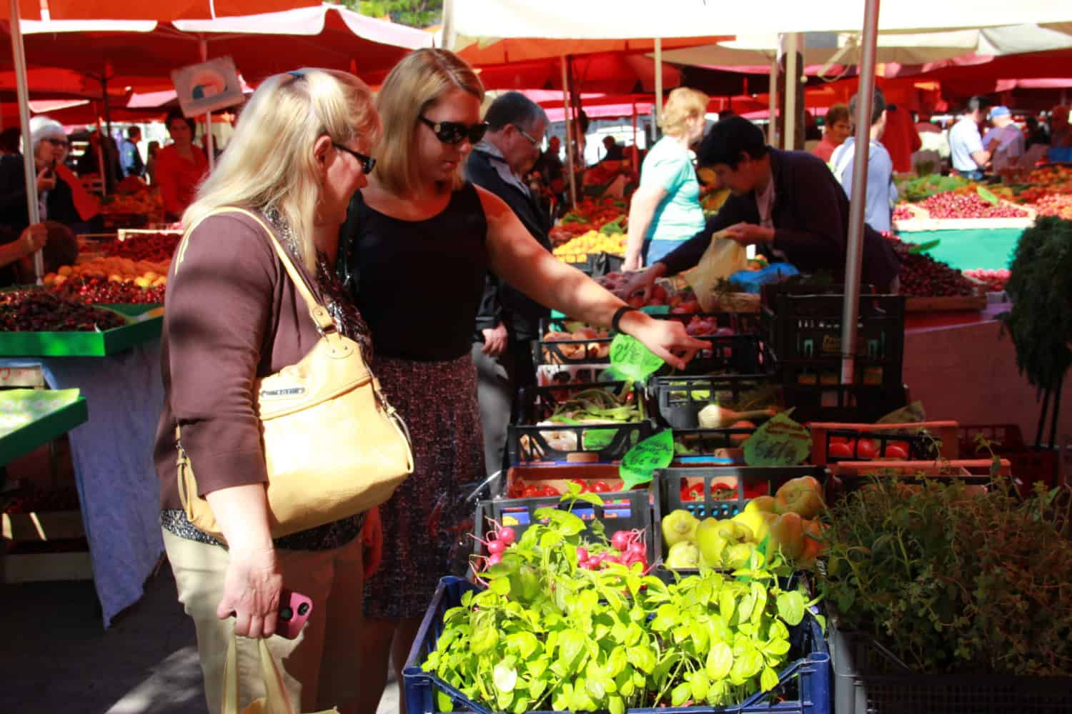 Ljubljana, City of Dragons...this gorgeous, vibrant city is worth exploring, and the weekend farmers market is the perfect way--one of the biggest farmers markets I've ever seen.