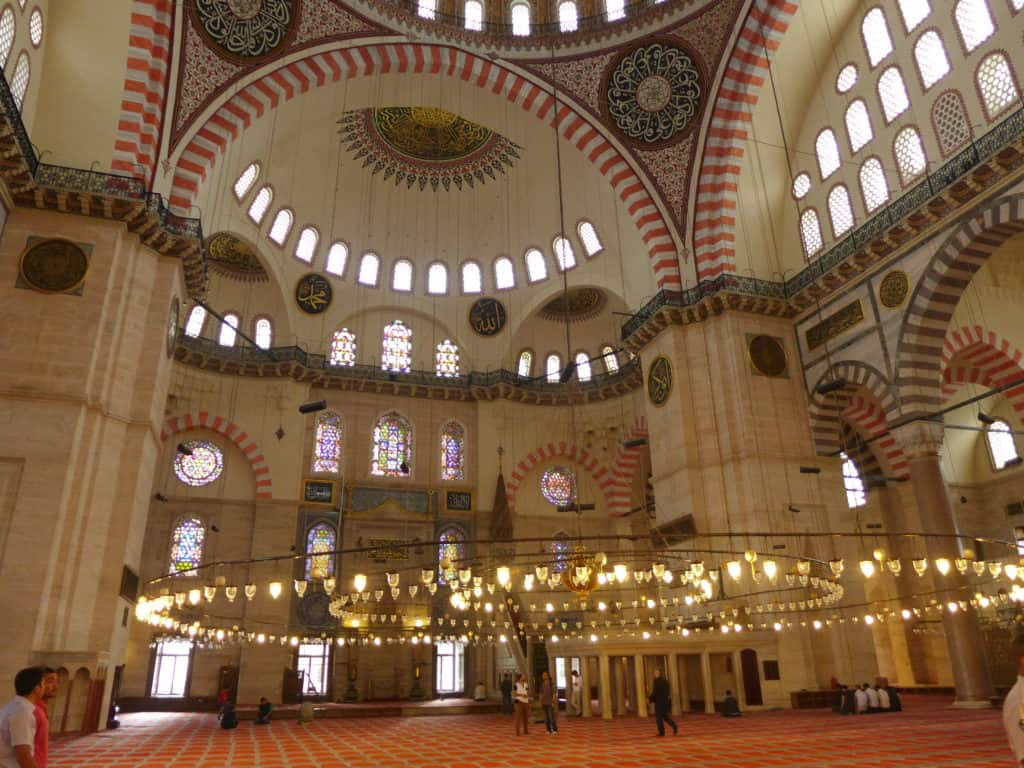 The beautiful Mosque of Suleyman the Magnificent | Istanbul itinerary tips, what to do with 24 hours in Istanbul | tips for what to see & what to skip | Istanbul trip planning, itinerary ideas for Istanbul | Turkey itinerary advice