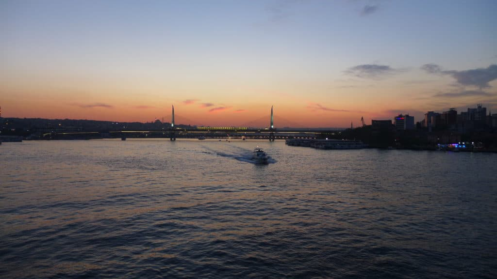 Galata Bridge at sunset...a must-see in Istanbul even with only 24 hours | tips for what to see & what to skip | Istanbul trip planning, itinerary ideas for Istanbul | Turkey itinerary advice