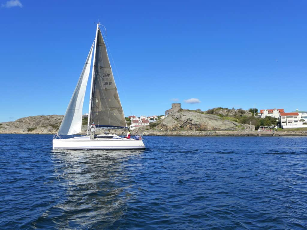 A stop on Sweden while sailing the Gothenburg archipelago in Sweden...how to rent a sailboat on Airbnb & sail in Sweden, planning your trip, including Björkö, Marstrand, & Grötto. Sweden itinerary ideas & trip planning advice. #sweden #airbnb