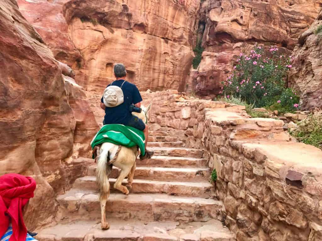 Ascending to the Monastery in Petra - one week in Israel and Jordan