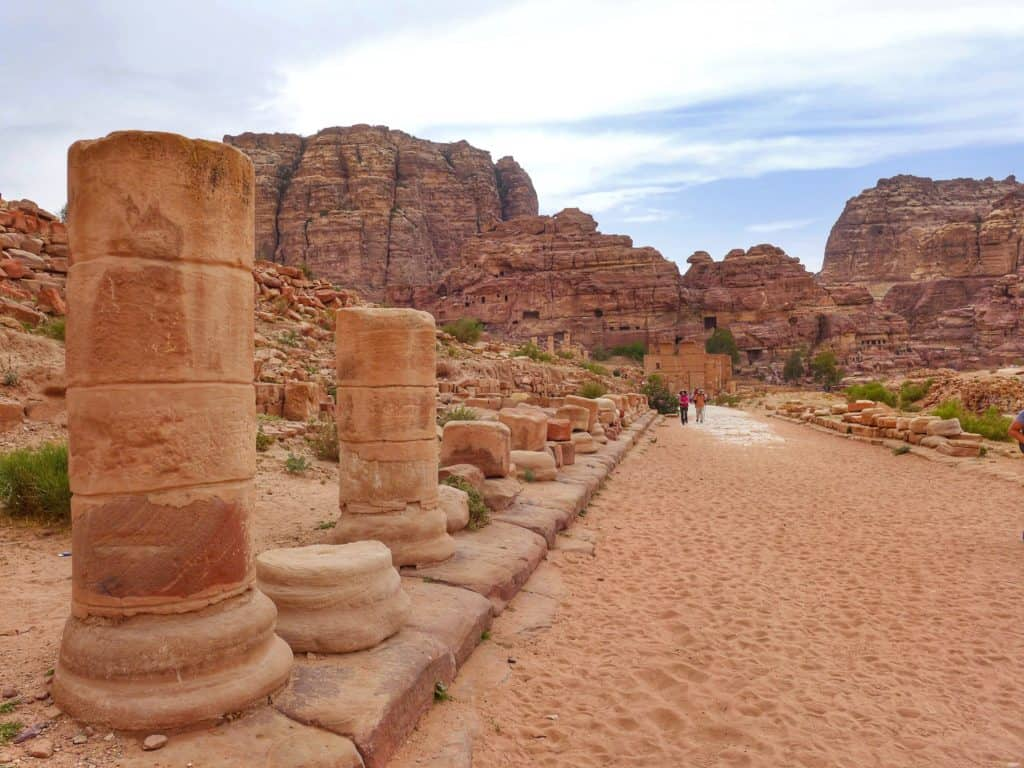 The famous Colonnaded Street in Petra | Ultimate first-timer's guide to Petra | How to plan a self-guided visit to Petra, Petra trip planning tips, how to visit Petra, what to do in Jordan, Petra travel guide, travel tips for Petra, where to stay in Wadi Musa #petra #jordan #bucketlist