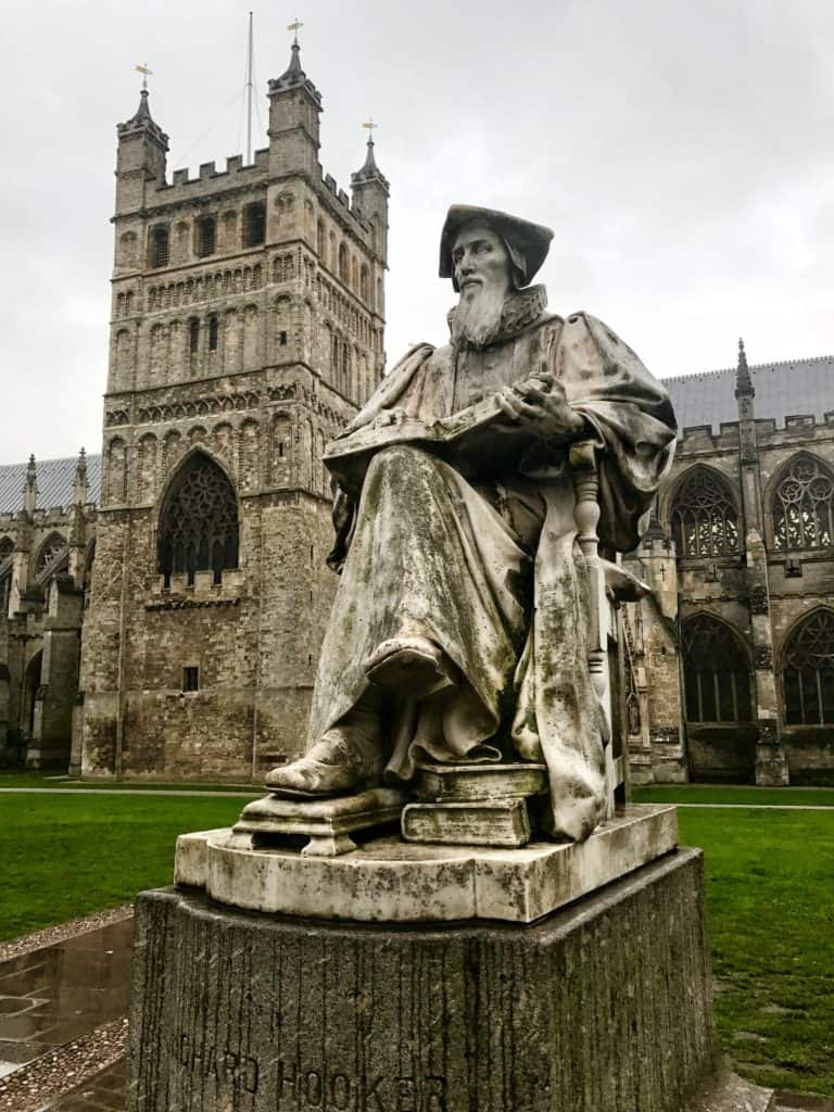 While not on the Jurassic Coast, Exeter Cathedral is an easy addition to your itinerary | How to visit the Jurassic Coast, including the Durdle Door, Corfe Castle, Lyme Regis, & a stop at Exeter Cathedral | how to visit the Durdle Door, where to go on the Jurassic Coast in England, England's Jurassic Coast | what to do in England, UK road trip ideas, natural beauty in England, road trip in England #jurassiccoast #england #uk #durdledoor