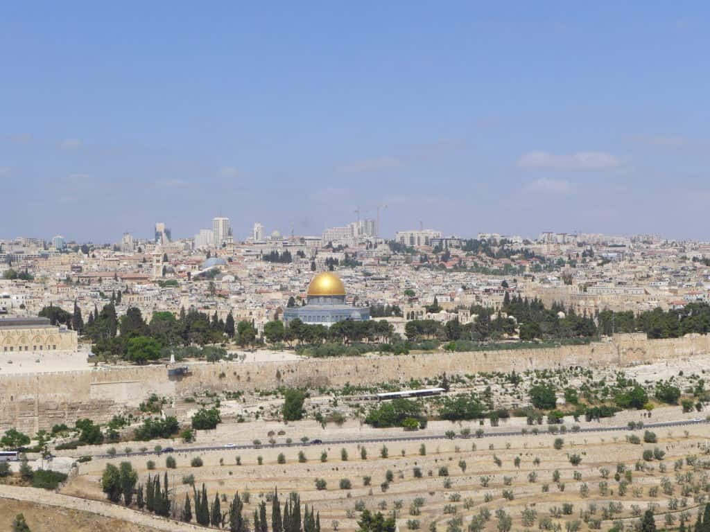 Jerusalem view from Mount of Olives - a must on 7-day Israel and Jordan itinerary