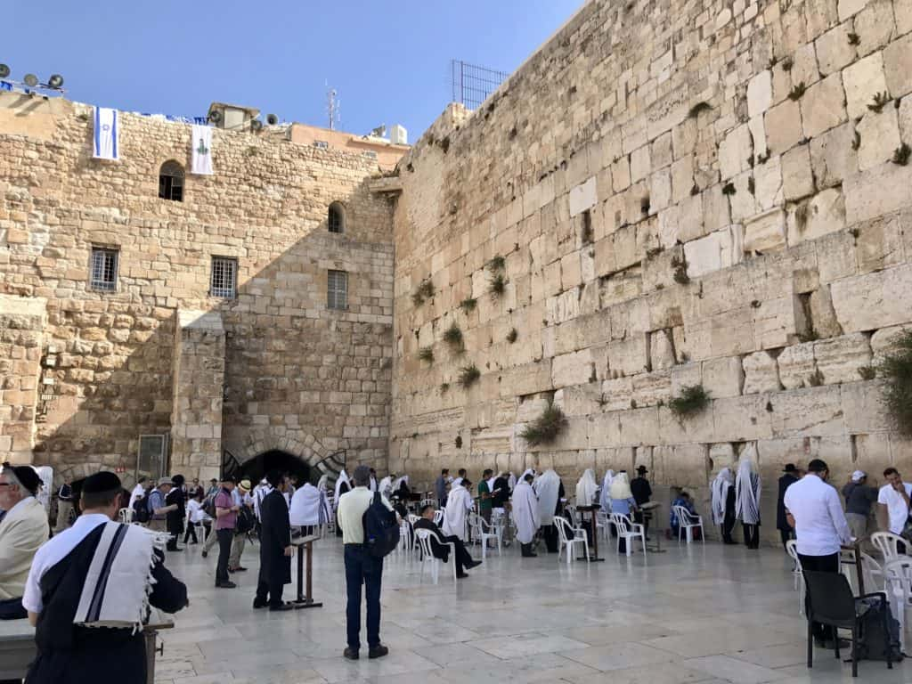Visiting the Western Wall on our 7-day Israel and Jordan itinerary