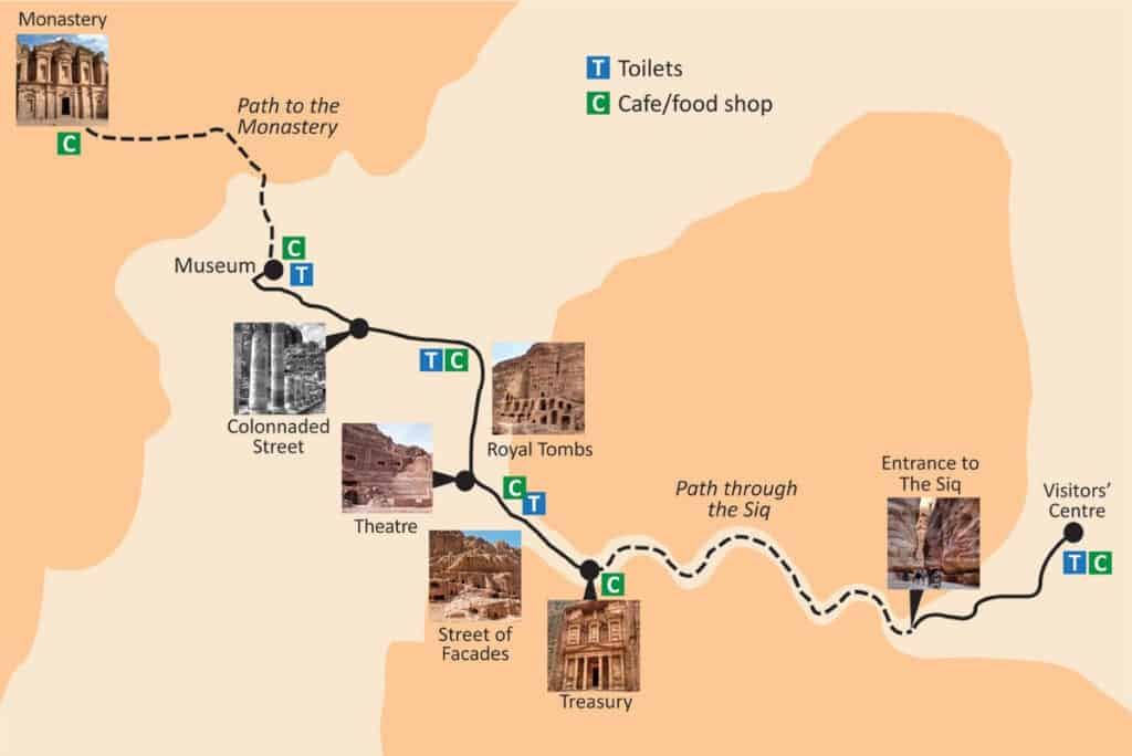 The ultimate first-timer's guide to Petra | How to plan a self-guided visit to Petra, Petra trip planning tips, how to visit Petra, what to do in Jordan, Petra travel guide, travel tips for Petra, where to stay in Wadi Musa #petra #jordan #bucketlist