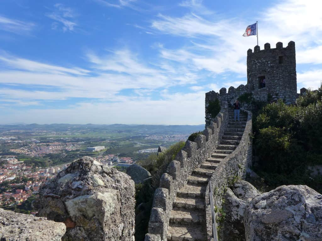 The Castle of the Moors | A guide to visiting magical Sintra, Portugal, a perfect guide for any first-timer | What to do in Sintra, which castles to visit, how to plan your trip | Sintra is the perfect day trip from Lisbon, but you could easily spend a few days exploring all the amazing history! #sintra #portugal