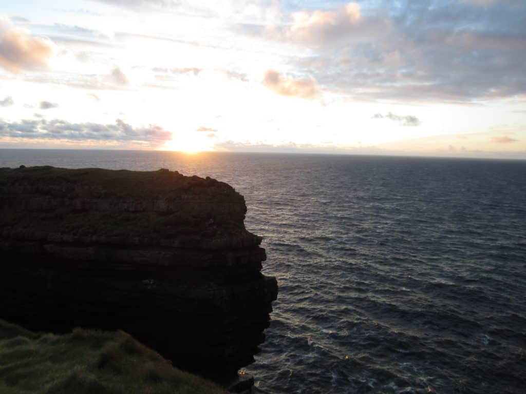 Consider Loop Head cliffs and lighthouse instead of the Cliffs of Moher to avoid the tourist hordes