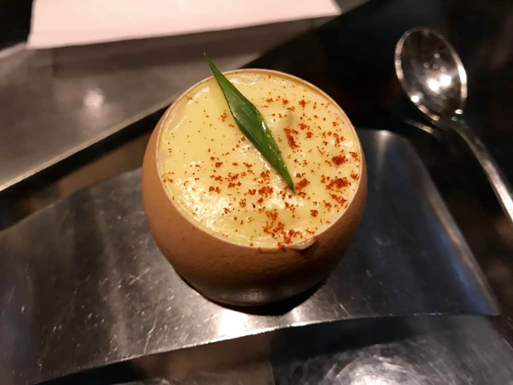 Nightbell deviled egg | Why a food tour in Asheville, NC is a perfect way to sample the city's amazing food & beer scene | Asheville food tours, Asheville weekend itinerary, what to do in Asheville | food tours in Asheville, Asheville restaurants, where to eat in Asheville #asheville #foodtour #northcarolina