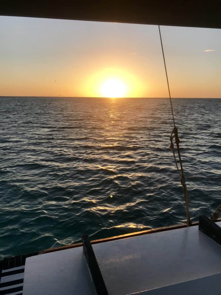 Aruba sailing trips, snorkel on the Black Pearl catamaran in Aruba! I loved this chill, beautiful boat trip, the snorkeling, & a gorgeous Aruba sunset | what to do in Aruba, Aruba trip planning, Aruba itinerary ideas, boat trips in Aruba, snorkeling trips in Aruba #aruba #sailing #caribbean