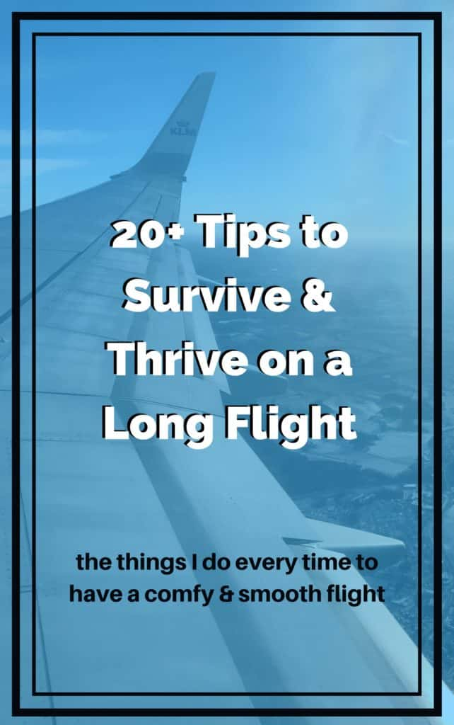 20+ Tips for a Long Flight...how to survive & thrive on international flights | what to wear on a long flight, what to bring on an international flight, how to be comfortable on a long-haul flight | tips for long flights #longflight #traveltips