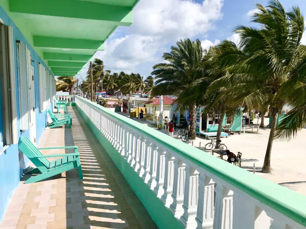 Where to stay in Caye Caulker, Belize...the Rainbow Hotel is beautiful, central, clean, & comfortable
