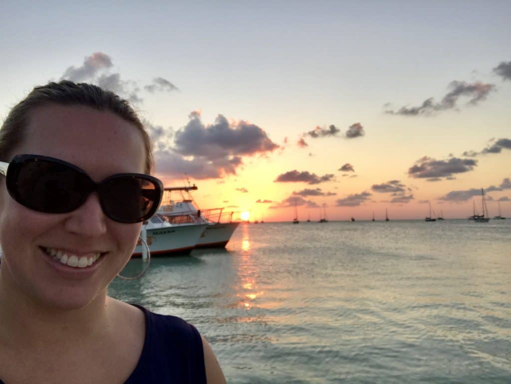 The Iguana Reef Inn was the best sunset view in Caye Caulker, Belize! What to do in Caye Caulker, Belize, for a chill vacay