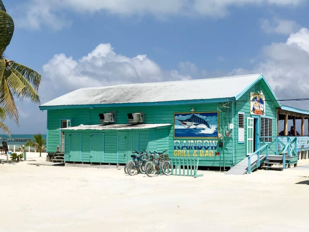 One of the best things to do in Caye Caulker is just wandering the streets & enjoying the colors, ocean views, & delicious food
