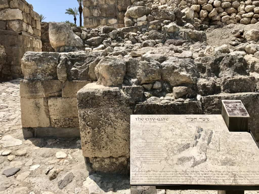 The ruins of Tel-Megiddo, in Israel