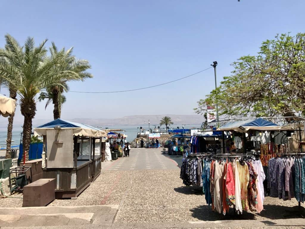 Tiberias, on the Sea of Galilee | A day trip from Tel Aviv to northern Israel, covering Caesarea, Tel-Megiddo, the Sea of Galilee, Capernaum, the Mount of Beatitudes, Tiberias, and Akko | what to do in Israel | There's so much to visit in such a small area, you can have a jam-packed day driving from Tel Aviv or Jerusalem but cover so many historic sites and towns | Israel itinerary ideas, Christian history trips, visit the Jesus trail, bible archaeology tours, what to see in Israel, Jerusalem day trips #israel #seaofgalilee #telaviv