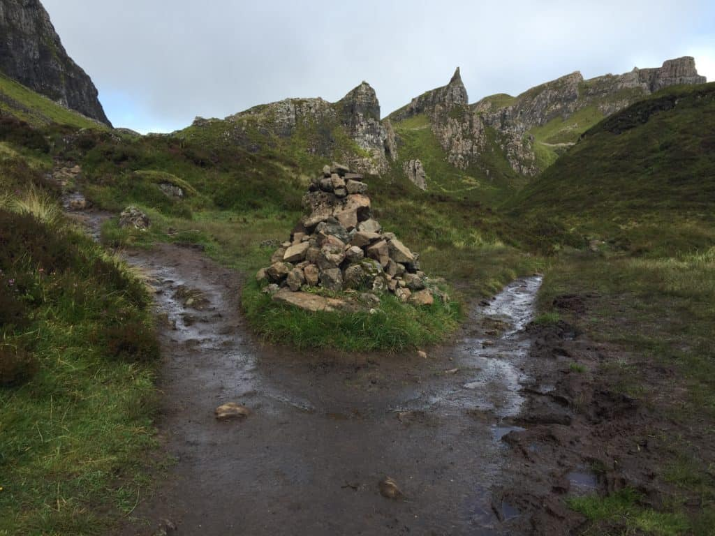 So much mud! You need the weather to cooperate to hike the Quiraing on the Isle of Skye
