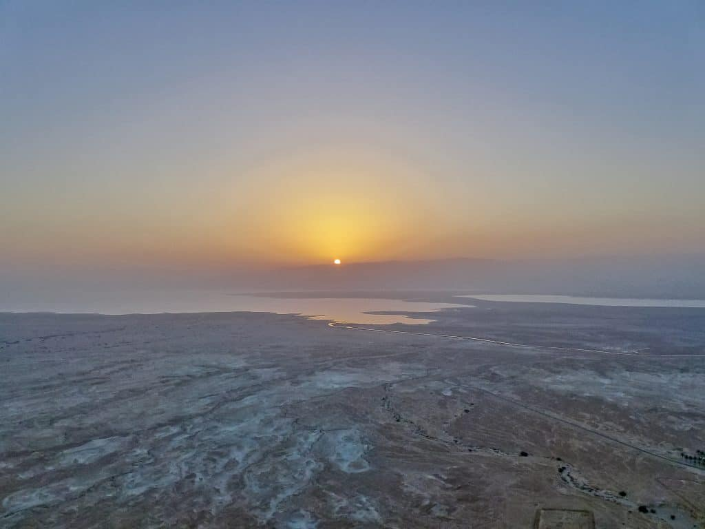 A sunrise hike up the fortress of Masada in Israel, a bucket list item