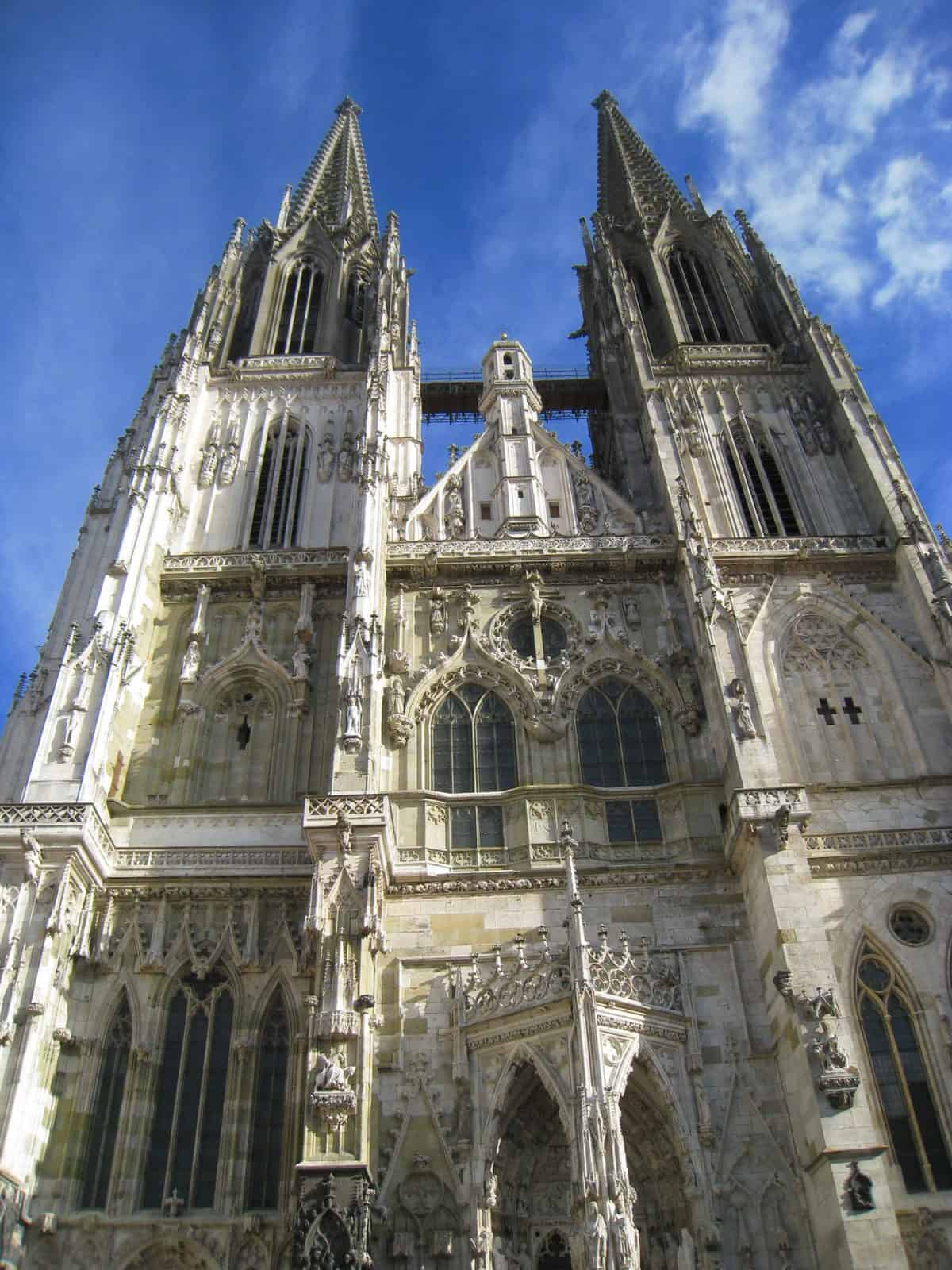 The old cathedral in Regensburg, Germany