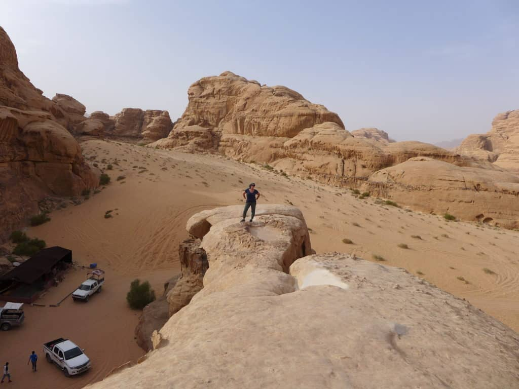 View from Um Fruth Bridge in Wadi Rum