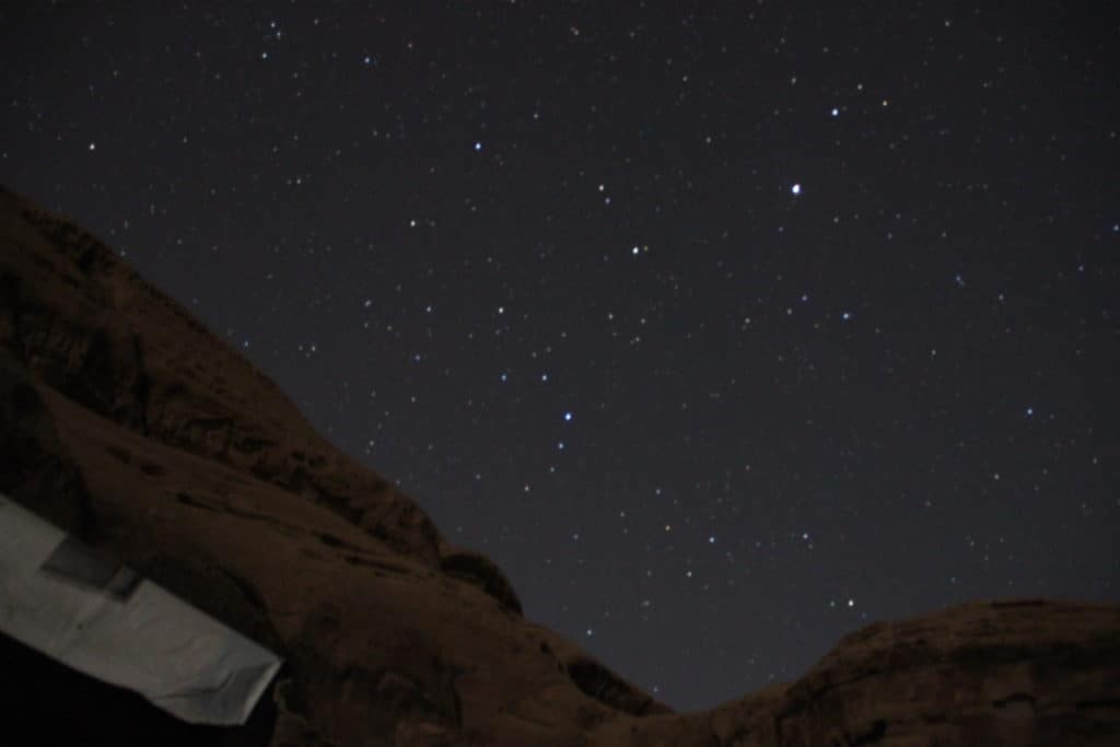The amazing stars in Wadi Rum