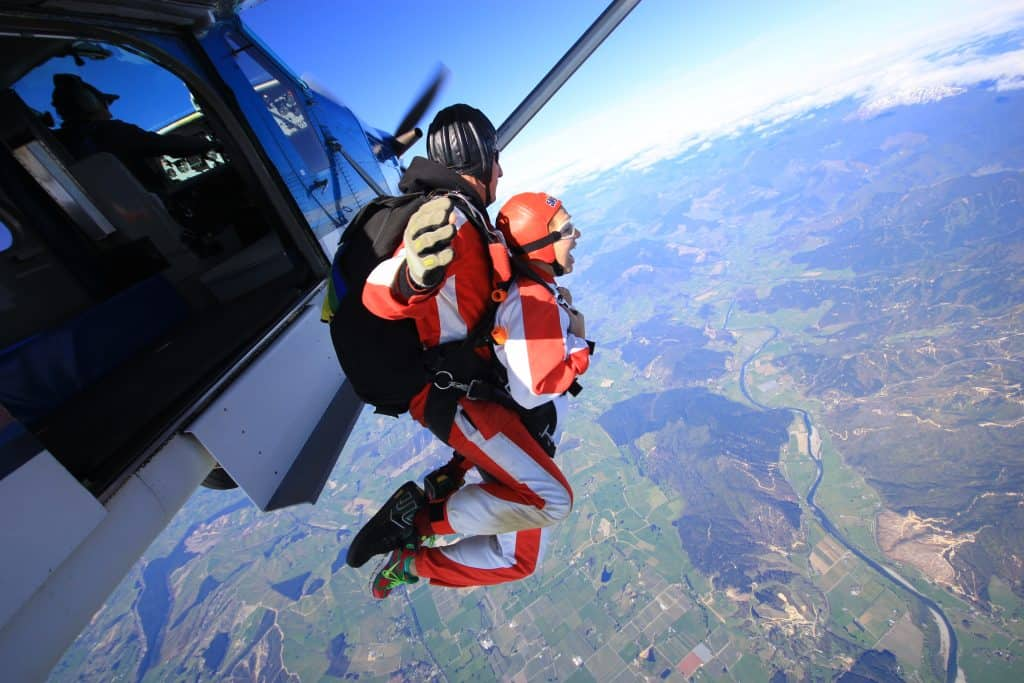 Skydiving over Abel Tasman National Park | One Girl, Whole World