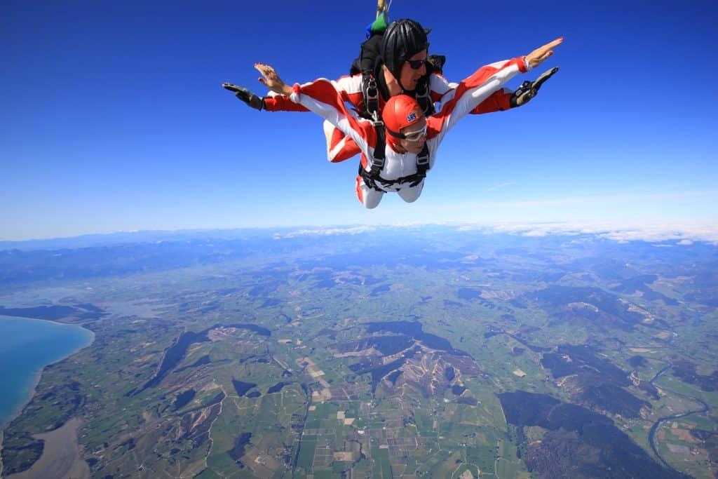 Skydiving over Abel Tasman National Park | One Girl, Whole World