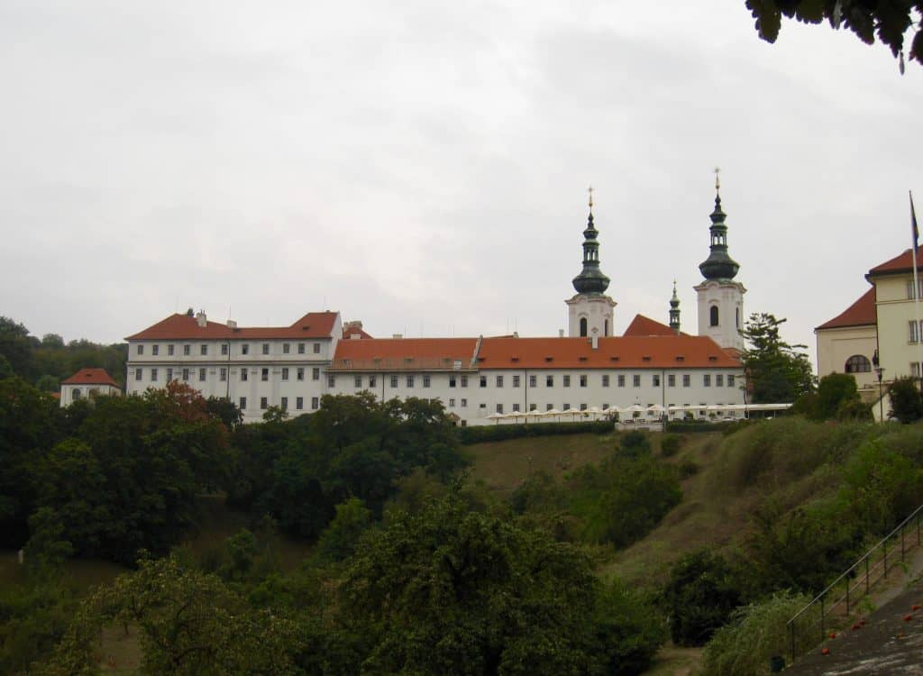 Strahov Monastery overlooks Prague, with great views from the patio restaurant & brewery