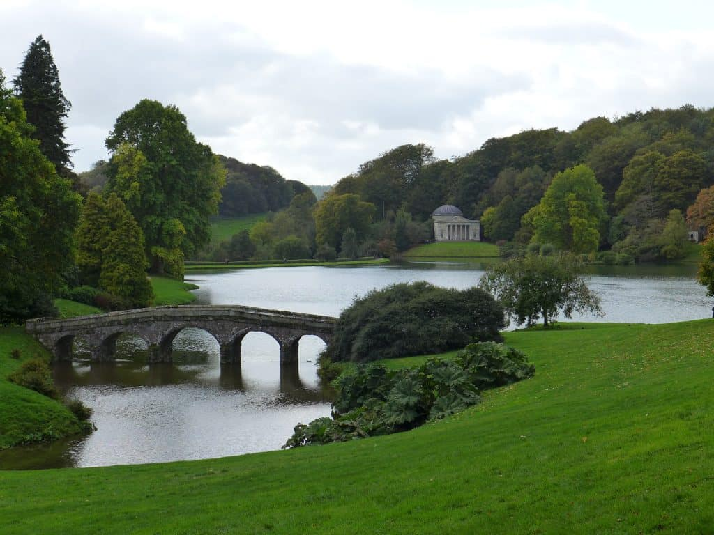 Stourhead Gardens in Wiltshire, a filming location for the 2005 Pride & Prejudice movie
