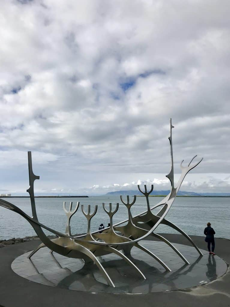 Reykjavik's famous Sun Voyager statue on the waterfront | One Girl, Whole World