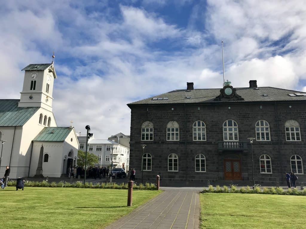 Make sure to get a taste of Reykjavik's history, with the Parliament and Domkirkjan cathedral   One Girl, Whole World
