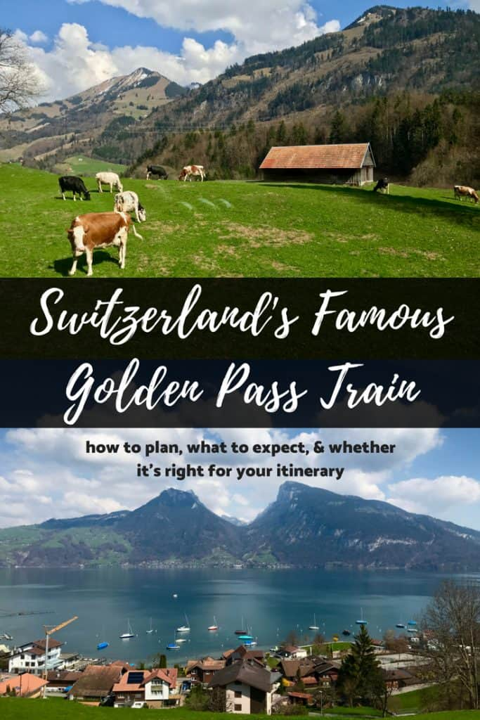How to take Switzerland's famous Golden Pass train | detailed tips for planning your trip from Luzern to Geneva on the Golden Pass train, tips for Switzerland itinerary & detailed Swiss train planning advice! #goldenpass #switzerland #train
