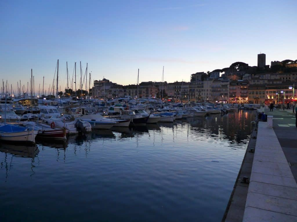 Sunset in Cannes...what to do in the French Riviera, planning your South of France itinerary | One Girl, Whole World