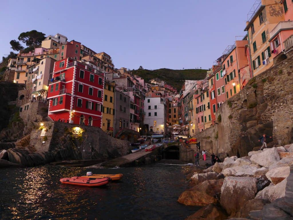 Sunset from the marina is a must in Riomaggiore...why you should stay in Riomaggiore when visiting Cinque Terre | One Girl, Whole World