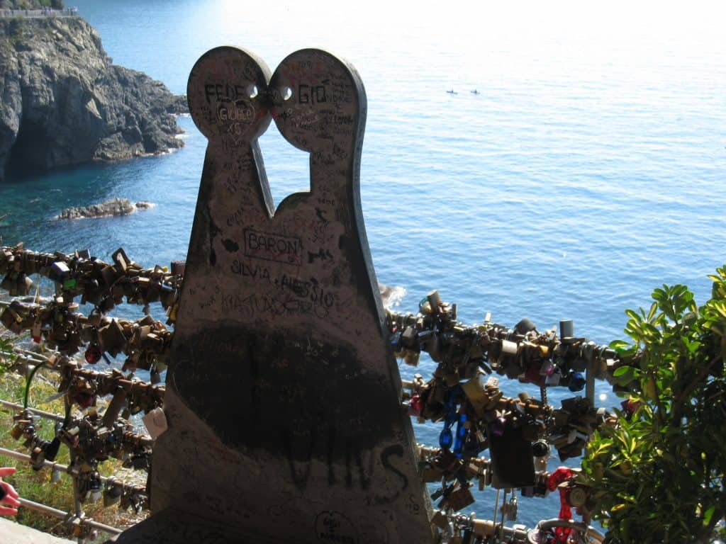 Via dell'Amore trailhead in Riomaggiore, Cinque Terre...how to hike the Cinque Terre trails | One Girl, Whole World