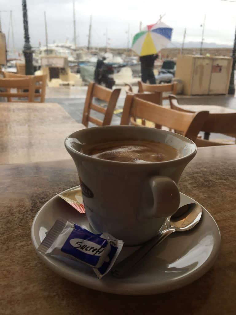Coffee and Breton crepes on a rainy day in St. Tropez | how to plan your French Riviera itinerary