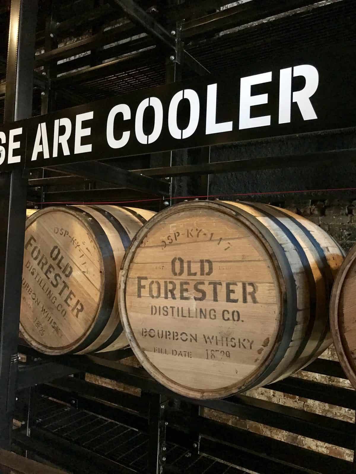 "What It's Like Visiting Old Forester Distillery in Louisville, Kentucky | The Bourbon Trail and ""Urban Bourbon"" Trail are so much fun to visit, and Old Forester is one of the must-visit distilleries on the trails...what to expect on your visit, why downtown Louisville is awesome, and a little bit of fun whiskey history. Whiskey distillery visits, how to visit a cooperage, what to do in Louisville, downtown Louisville ideas, Bourbon Trail ideas, and more. #louisville #oldforester #bourbon #distillery #kentucky"