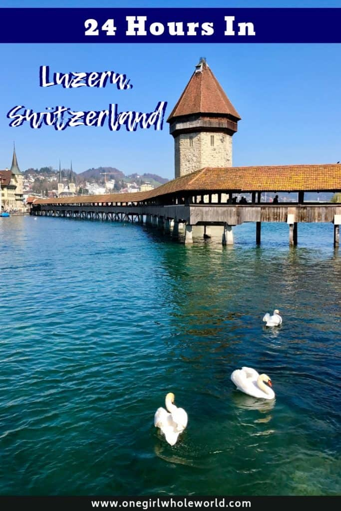 LUCERNE, SWITZERLAND | Lucerne (or Luzern) is a charming medieval town in central Switzerland, a perfect base for visiting Mt. Rigi or Mt. Pilatus, and enjoying the famous Kappelbrucke and Lion of Lucerne. What to do in Lucerne, Switzerland itinerary ideas! #lucerne #luzern #switzerland #swissitinerary