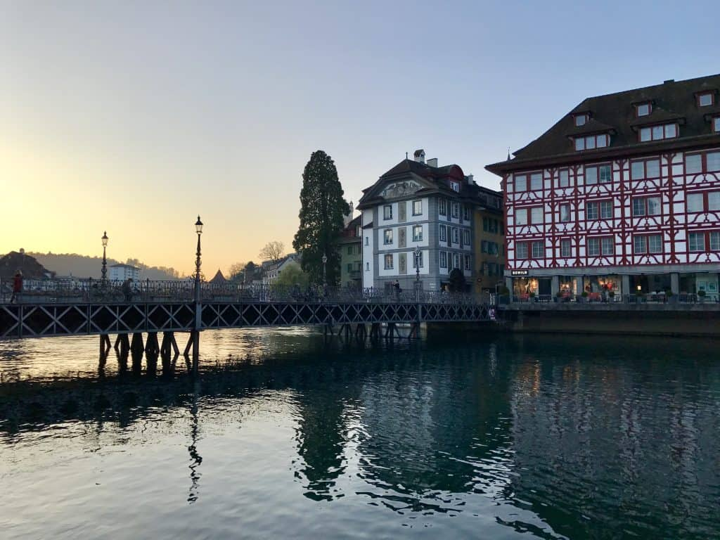 Sunset in Lucerne, Switzerland | One Girl, Whole World